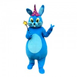 Blue Bunny Rabbit Mascot Costume Free Shipping