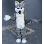 Long Gray Wolf Mascot Costume Free Shipping