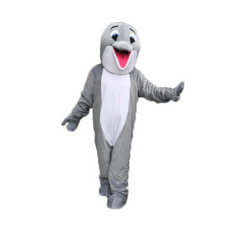 sc 1 st  ShopMascot.com & Gray Happy Dolphin Mascot Costume