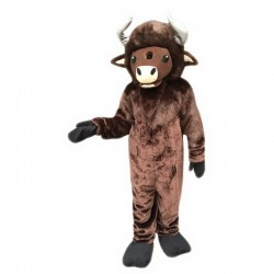 Brown Buffalo Mascot Costume Free Shipping