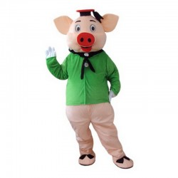 Green Pig Mascot Costume Free Shipping