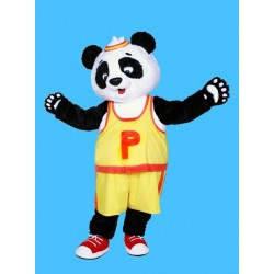 Yellow T shirt Panda Mascot Costume