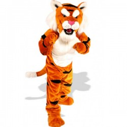 Power Tiger Mascot Costume Free Shipping