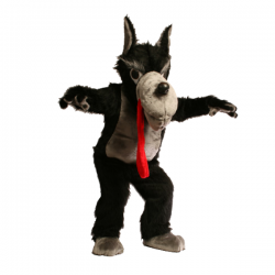 Cute Wolf Mascot Costume Free Shipping