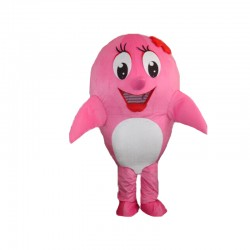 Cute Pink Dolphin Mascot Costume Free Shipping