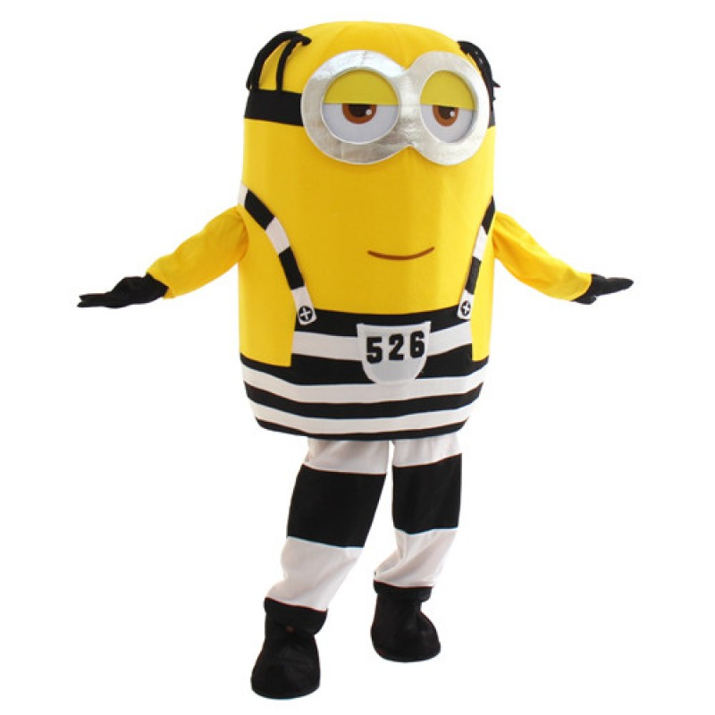Lovely Two Eye Smile Despicable Me Minion Mascot Costume