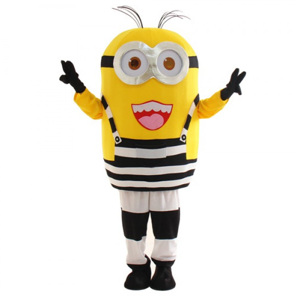 Lovely Two Eye Laugh Despicable Me Minion Mascot Costume