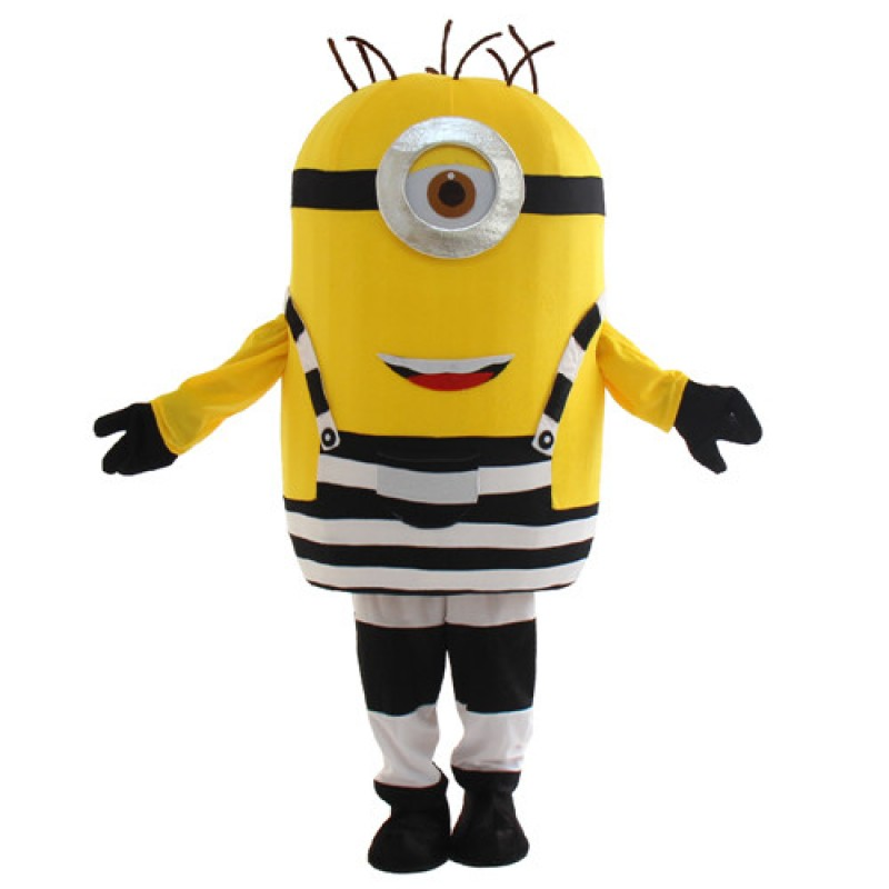 Cute One Eye Smile Despicable Me Minion Mascot Costume