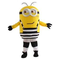 Two Eyes Strabism Smile Despicable Me Minion Mascot Costume