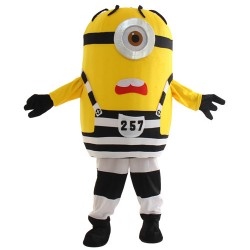 Cartoon One Eye Despicable Me Minion Mascot Costume