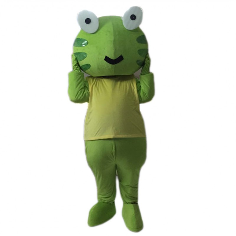 Green Frog Mascot Costume Free Shipping