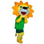 Sunshine Flower Lion Mascot Costume Free Shipping
