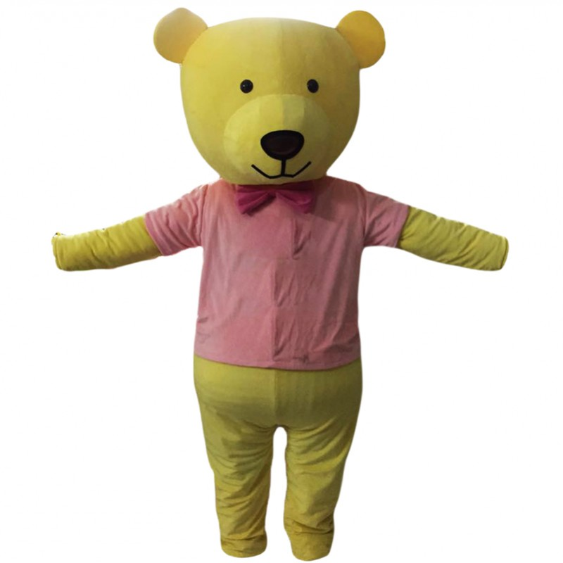 Yellow Bear Mascot Costume Free Shipping