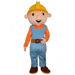 Cartoon Film Adult Bob the Builder Mascot Costume