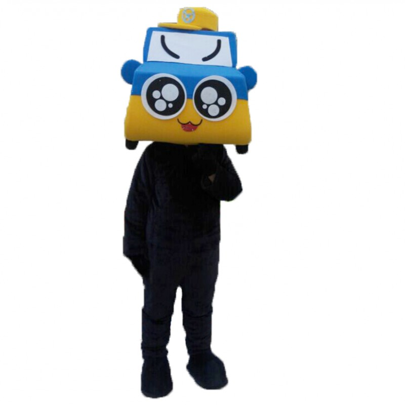 Taxi Car Mascot Costume Free Shipping