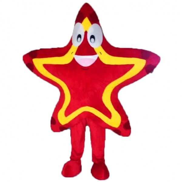 Red Star Mascot Costume Free Shipping
