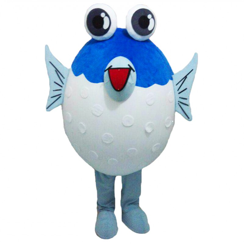 Puffer fish mascot costumes free shipping for Puffer fish price