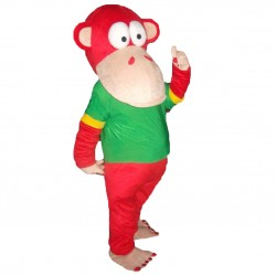 Red Monkey Mascot Costumes Free Shipping