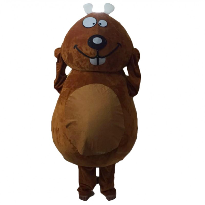 Brown Beaver Mascot Costumes Free Shipping