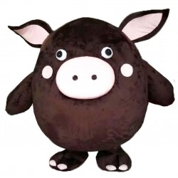 Brown Pig Mascot Costumes Free Shipping