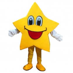 Yellow Five-Pointed Star Mascot Costumes