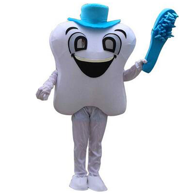 Teeth and Toothbrushes Mascot Costumes