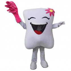 Red Teeth and Toothbrushes Mascot Costumes