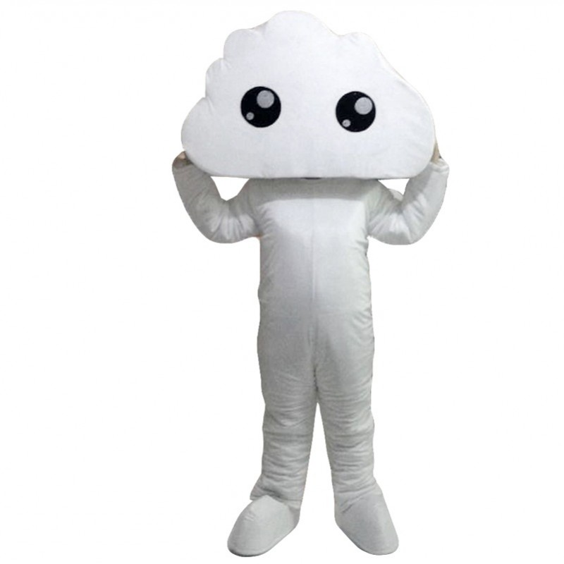 White Cloud Mascot Costumes Free Shipping