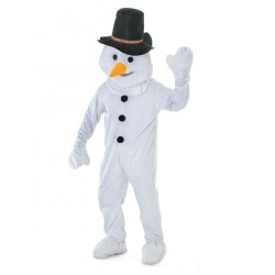 Cartoon Snowman Mascot Costume