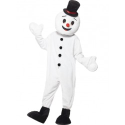 Black Hat Snowman Mascot Costume