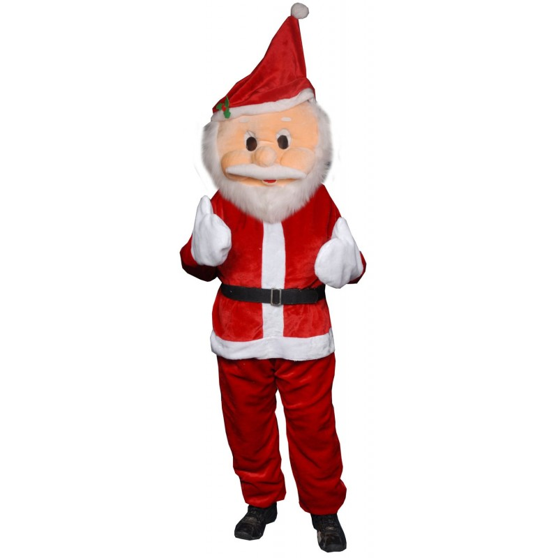 Santa Cartoon Mascot Costume