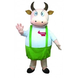 Fat Cow Fancy Cute Dad Cow Mascot Costume