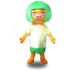 Professional Green Hair Girl Strange Girl Mascot Costume