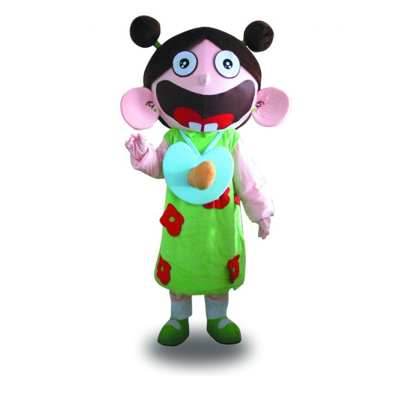 Big Mouth Girl Beautiful Girl Mascot Costume