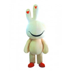 Yellow Cute Easter Bunny Bug Rabbit Mascot Costume