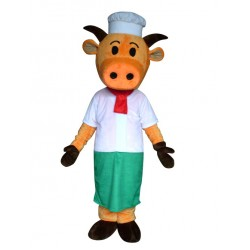 Hat Orange Cow Mascot Costume