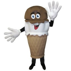 Hand-Dipped IceCream Waver Adult Mascot Costume
