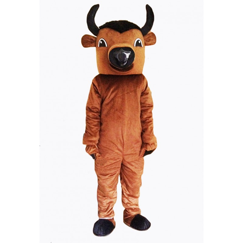 Brown Buffalo Mascot Costume
